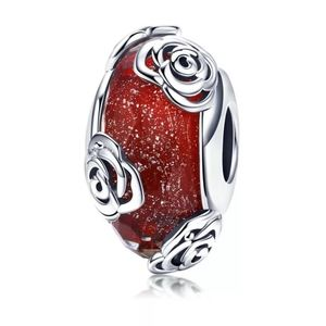 925 Sterling Silver Glass Bead Charm